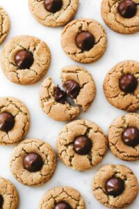 Ultimate Healthy Peanut Butter Cookies with Kisses