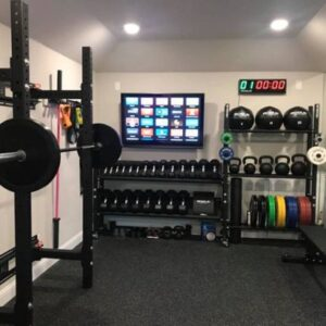 Low budget home garage gym