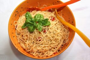 Spaghetti with Salad diet
