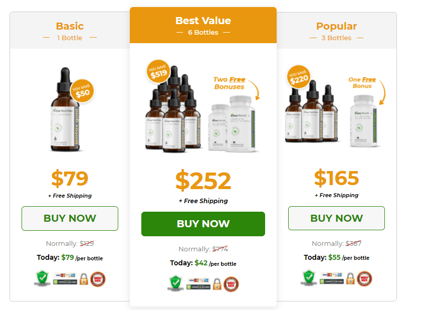 biotox nutrition gold pricing