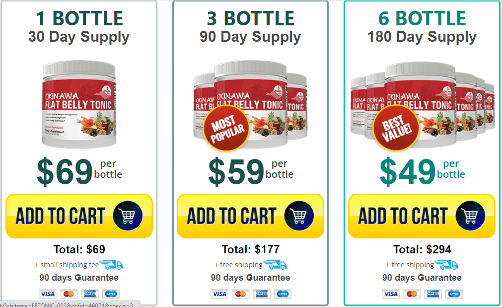 Okinawa Flat belly Tonic Pricing - Okinawa Cost And Where To Buy It
